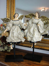 Luxus Engel Set Antik Barock Rokoko Deko Skulptur Figur Edel Engelpaar Putte NEU
