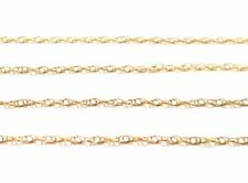 9ct GOLD FINE PRINCE OF WALES TWIST NECKLACE - 0.8mm - VARIOUS LENGTHS AVAILABLE