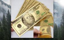 BILLETE ORO 100 $ COLOR - GOLD 99,9 ORO 24K PLACADO - CALIDAD PLANCHA
