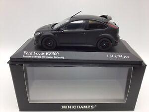 Minichamps 1/43 Ford Focus RS500 - Matt Black - MIB