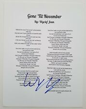 Wyclef Jean Signed Gone 'Til November Song Lyrics The Fugees Refugee The Score