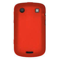 Amzer Silicone Soft Skin Jelly Fit Case Cover For BlackBerry Bold 9900 - Red