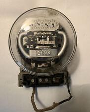Vintage Westinghouse Ob Watthour Electrical Usage Meter Single 5 Amp 120v
