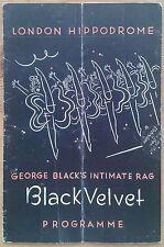 George Black's Black Velvet programme London Hippodrome theatre 1940 Cyril Smith