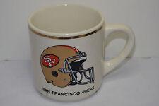 VINTAGE SAN FRANCISCO 49ers COFFEE MUG/CUP! GOLD TRIM! SF