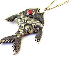 Art Deco vintage retro style fish necklace