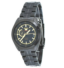 Seiko 5 Sports Automatic SSA071K1 Men 24-Hour Dial Black Stainless Steel Watch