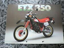 BROCHURE APRILIA ETX 350 GERMAN LANG 2 PAGES PH637
