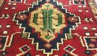 """Antique 1900-1939s Tent-Woven Natural Dye Wool Pile Tribal Rug 1'8""""×3'"""