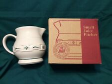 Heritage Green 1 Qt 32 ounce Pitcher Sauce Gravy or Syrup Usa Longaberger Nib