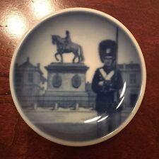 "Royal Copenhagen Denmark Butter Pat Plate Blue 3"" Sentry Guard"
