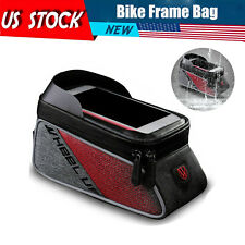 Bike Phone Holder Waterproof Cycling Bicycle Front Frame Top Tube Mount Bag Case