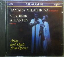 CD TAMARA MILASHKINA / VLADIMIR ATLANTOV - arias & duets from operas, Melodiya