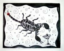 Emperor Scorpion Drinking a Martini 8x10 Pop Art Print Insect Collectible Signed