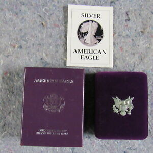 1987 S American Eagle Silver Dollar Proof w/ Box & Certificate of Authenticity