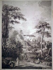 Radierung, Landschaft in Italien, G. Zocchi/ F. Berardi, um 1765, Venedig