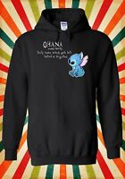 Disney Lilo and Stitch Ohana Cool Men Women Unisex Top Hoodie Sweatshirt 1766