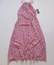 NWT LRL Ralph Lauren Jeans Co Pink Floral Gauze Halter Maxi Midi Long Dress 4