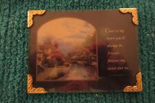 Thomas Kinkade, 2000, Mini Glass Cottage Plaque,Sister/Friend