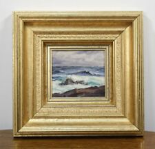 Original ALFRED FULLER Signed Oil Painting. Ocean Wave Rocks Maine Artist