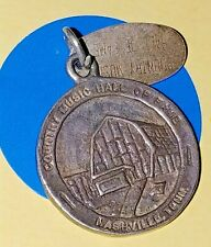 Country Music Hall Of Fame Sterling Silver Vintage Bracelet Charm Q97