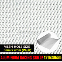 Aluminium Grille Net Car Front Intake Bumper Fender Hood Vent Mesh Grill Silver