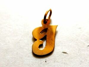 "Modern Classic Initial ""J"" Gold Plated Monogram Pendant"