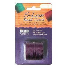 S-LON BEAD CORD TEX 210 1/CD MED PURPLE