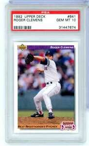 1992 UPPER DECK ROGER CLEMENS #641 PSA GEM MINT 10 BOSTON RED SOX RB5869