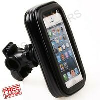 Motorcycle Scooter Bike Handlebar Holder Mount Waterproof Bag Case Cell Phone