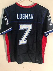 Reebok Women's NFL Jersey Buffalo Bills J.P. Losman Navy sz S