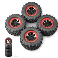 4X 160mm Tires&Wheel 17mm Hex For1:8 Bigfoot Monster Truck TRAXXAS Summit RC Car