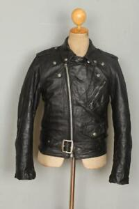 Vtg SCHOTT PERFECTO Leather Motorcycle Jacket Size Small
