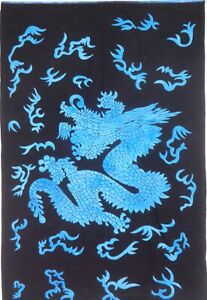 Tapestry Blue Snake Dragon Wall Hanging Small Poster Tapestry Table Cloth Animal