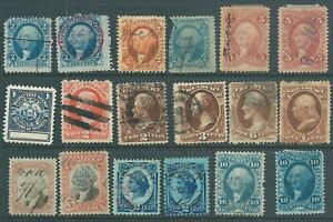 USA early used Revenue stamp collection (c)