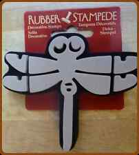 NEW LARGE DRAGONFLY RUBBER STAMP STAMPEDE WALL ART, CARD MAKING, CRAFTS + CARDED