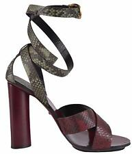 NIB GUCCI $1260 GENUINE PYTHON LEATHER SANDALS SHOES SZ EU 38 US 8 ITALY