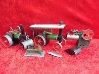 alte Dampfmaschinen__Dampfstielzeug__Walze,Trecker..__Mamod... !