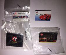 4 CHEVRON TEXACO BUSINESS-GIFT CARD HAT LAPEL PINS JUAN MONTOYA 42 CUP RACING