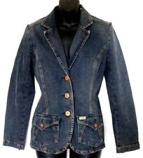Levis Jean Denim Jacket Small Blue Stretch copper type Buttons