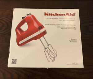 KitchenAid Ultra Power Hand Mixer KHM512 5-Speed Empire Red BRAND NEW!