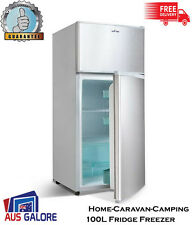 New Fridge Freezer 100L Stainless Steel 12V, 24V, 240V Bar Home Caravan Camping