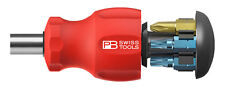 PB Swiss Tools PB 8453.V01 Stubby portapunte FESSURATA/Phillips/Hex magnetico Swiss