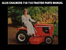 ALLIS CHALMERS 710 716 TRACTOR PART MANUAL for 7010 7016 6 Speed Garden Tractors