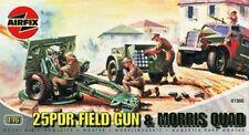 Airfix A01305 25pdr Field Gun & 4x4 Quad Tractor 1 76