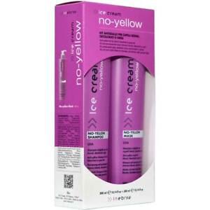 Inebrya Ice Cream No Yellow Kit Shampoo + Mask Anti-Gelb-Effekt - 300ml
