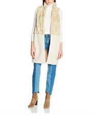 New New Look Womens Half Faux Fur Sleeveless Coat Jacket Sz UK 10 RRP-£30.00
