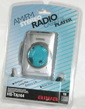 AIWA AM/FM Stereo Radio Cassette Player Walkman HS-TA164 Silver - New Old Stock