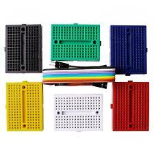 Elegoo 6PCS 170 tie-points Mini Breadboard kit for Arduino Project 6 color Br...