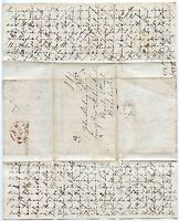 SCOTLAND ST ANDREWS 1828 CROSS WRITTEN LONG PERSONAL LETTER to JOHN STIRLING